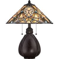 Quoizel Tiffany-style India Imperial Bronze Finish 2-light Table Lamp