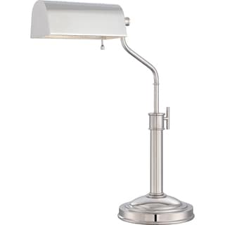 Quoizel Portable Lamp Haskell Polished Nickel Finish Table Task Lamp