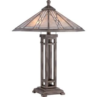 Cyrus Anniversary Silver Finish 2-light Table Lamp