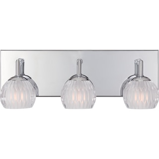 Platinum Collection Barron Polished Chrome Three-Light Bath Fixture