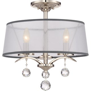 Whitney Imperial Silver Semi-Flush Mount