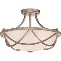 Quoizel Milbank Vintage Gold Large Semi Flush Mount