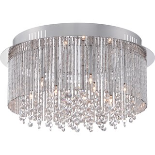 Quoizel Platinum Collection Countess Polished Chrome Large Flush Mount