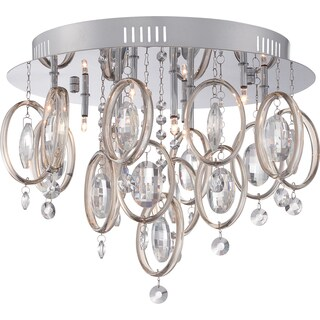 Platinum Collection - Ella 9-light Polished Chrome Flush Mount