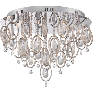 Quoizel Platinum Collection - Ella 18-light Polished Chrome Flush Mount
