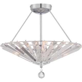 Quoizel Platinum Collection - Superior 4-light Polished Chrome Semi Flush Mount