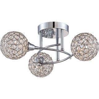 Quoizel Platinum Collection - Shimmer 3-light Polished Chrome Semi Flush Mount