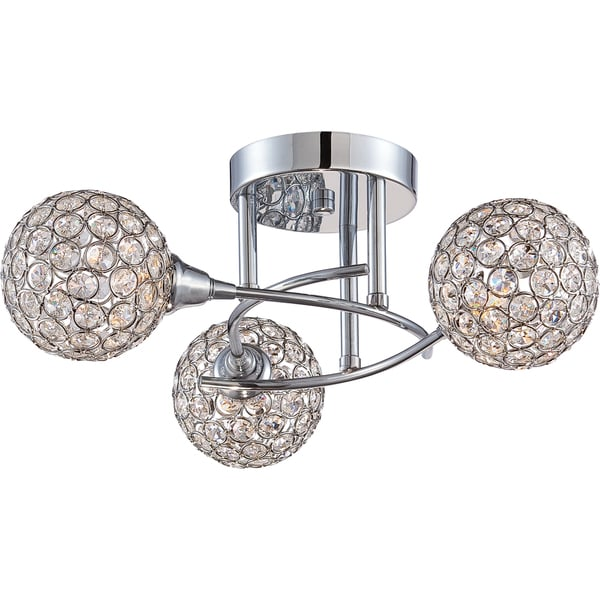 Quoizel platinum collection shimmer 3 light polished chrome semi flush mount free shipping Home decorators collection 4 light chrome flush mount