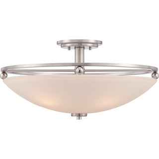 Quoizel Fixture - Castle 4-light Brushed Nickel Semi Flush Mount