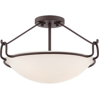 Quoizel Fixture - Belcourt 3-light Western Bronze Semi Flush Mount