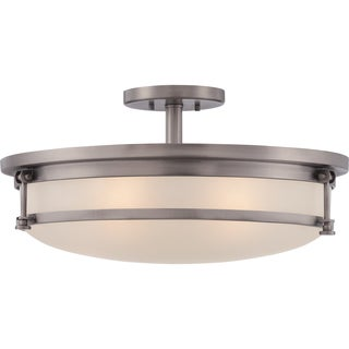 Sailor 5 Light Antique Nickel Extra Large Semi Flush Mount