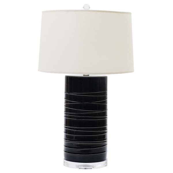 Transparent Charcoal 25-inch Ceramic Table Lamp