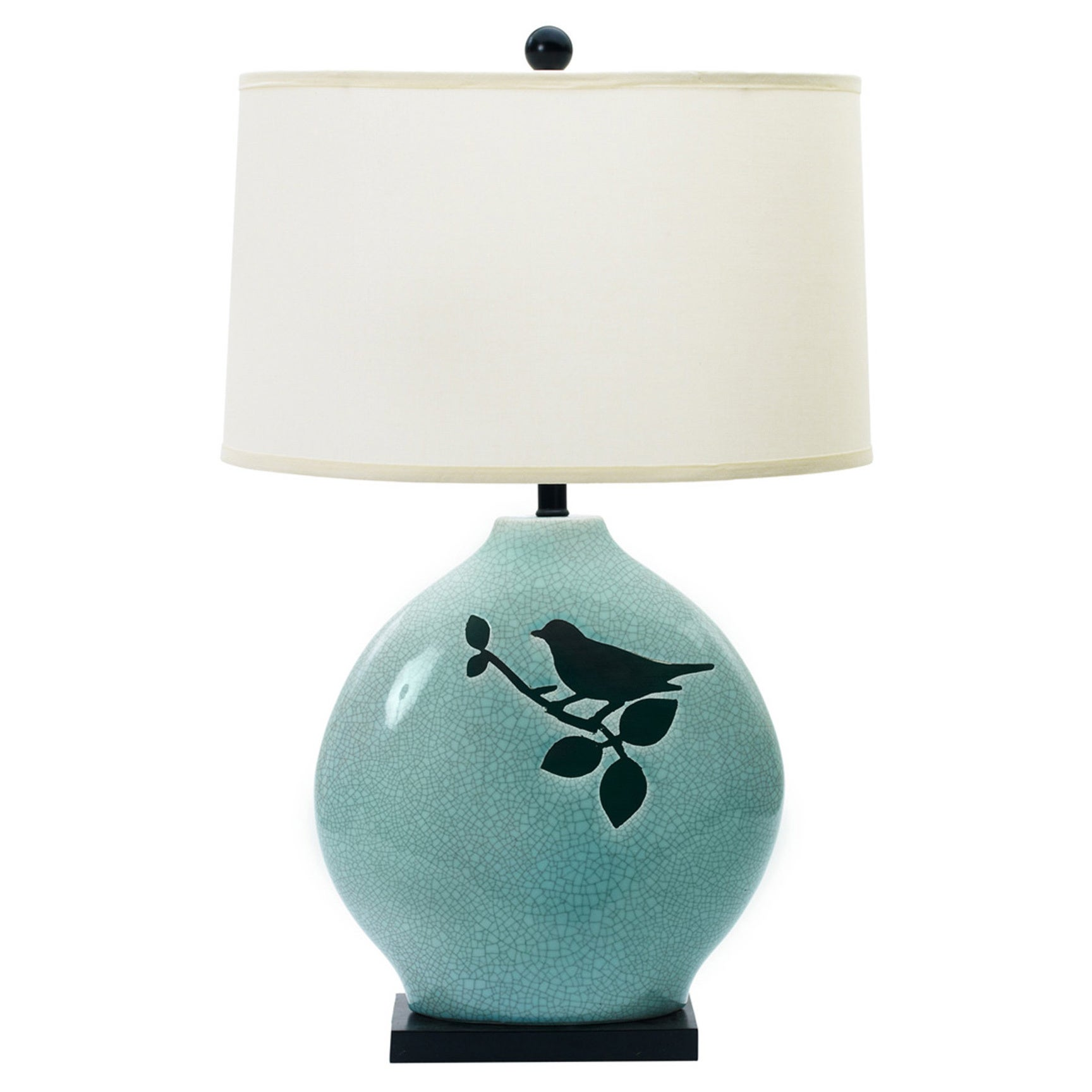 Dexsa Spa Blue Crackle w/ Bird 30-inch Ceramic Table Lamp...