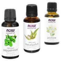 Now Foods Essential Oils 3-Pack (Jasmine, Eucalyptus, Peppermint)