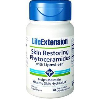 Life Extension Skin Restoring Phytoceramides With LipoWheat (30 Vegetarian Liquid Capsules)