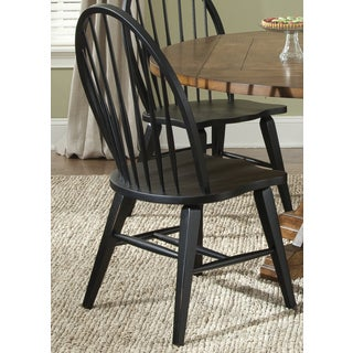 Liberty Hearthstone Traditional Rustic Black Windsor Side Chair