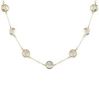 14KY Citrine tincup Necklace