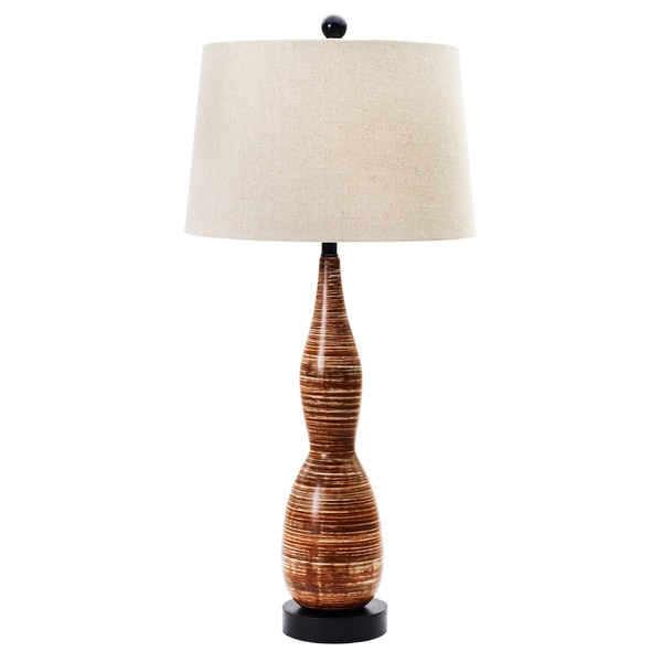 Tribal Brown 34-inch Ceramic Table Lamp