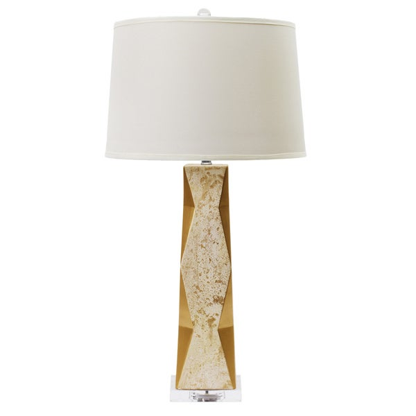 Marbled Gold 32.5-inch Ceramic Table Lamp