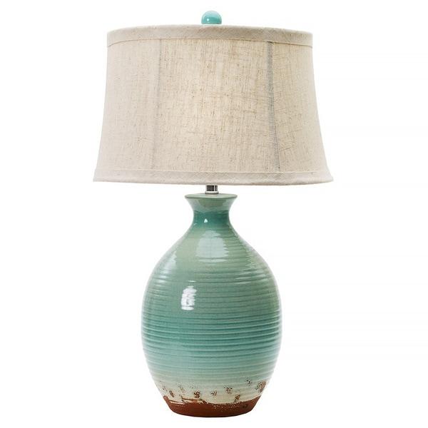 Shop Ocean Spray Crackle 28-inch Ceramic Table Lamp - Free ...
