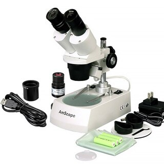 AmScope5X-10X-15X-30X Cordless LED Stereo Microscope with Camera