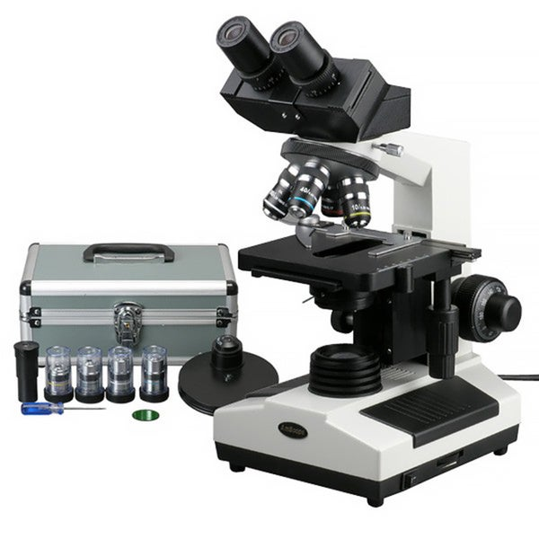 AmScope Turret Phase Contrast Doctor Veterinary Compound Microscope