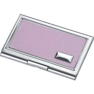 Visol Carmen Pink Leather Business Card Case for Ladies