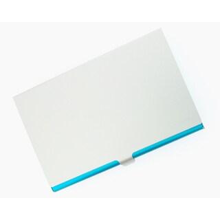 Visol Light Blue Aluminum Business Card Case