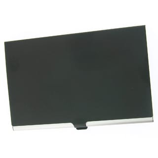 Visol Black Cover Aluminum Business Card Case