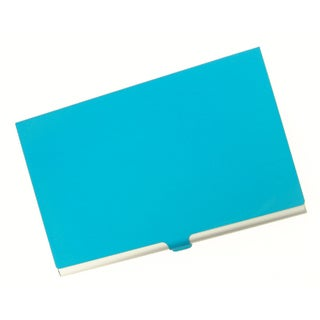 Visol Light Blue Cover Aluminum Business Card Case
