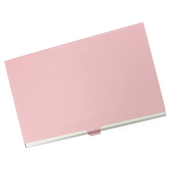 Visol Pink Cover Aluminum Business Card Case