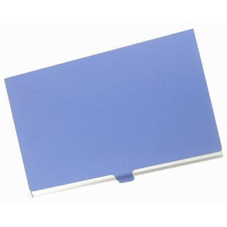 Visol Purple Cover Aluminum Business Card Case