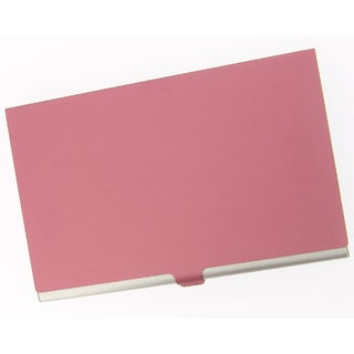 Visol Red Cover Aluminum Business Card Case
