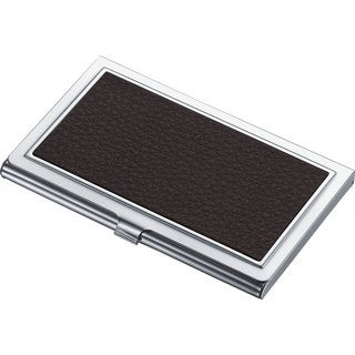 Zahir Black Leather Business Card Case