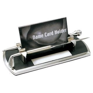 Visol Distance Golf Themed Chrome Plated Business Card Case