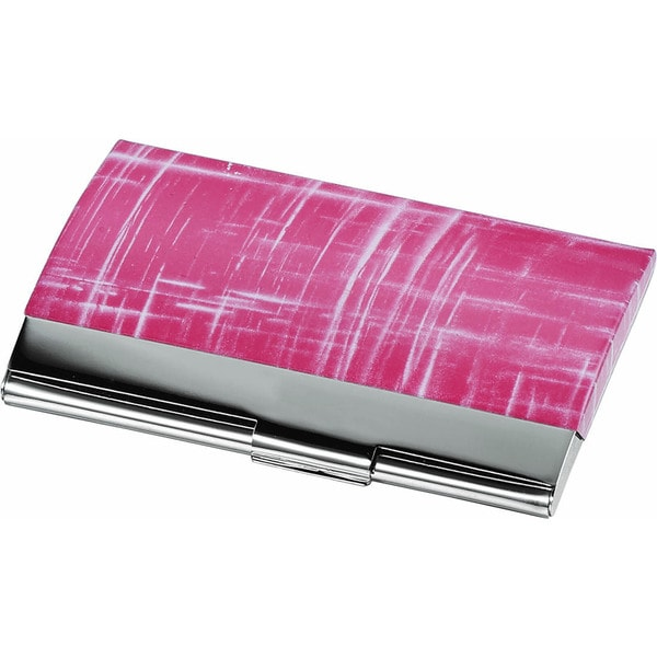Veda pink matte and polished chrome business card case free veda pink matte and polished chrome business card case colourmoves