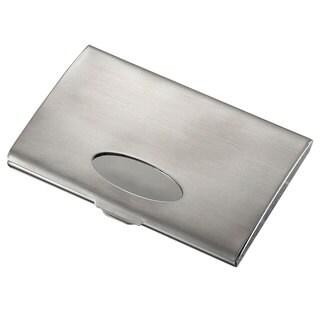 Visol Mercury Brushed Business Card Holder