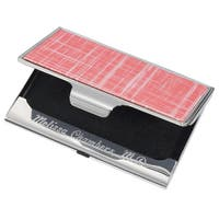 Sania Pink Slate Finish  Business Card Case