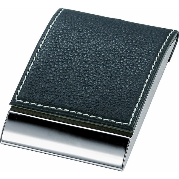 Visol Sycamore Black Leather and Business Card Case
