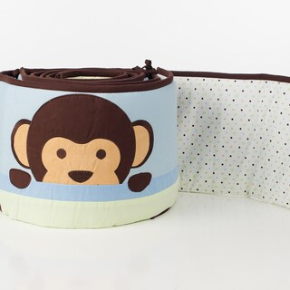 Pam Grace Creations 4-Piece Maddox Monkey Crib Bumpers