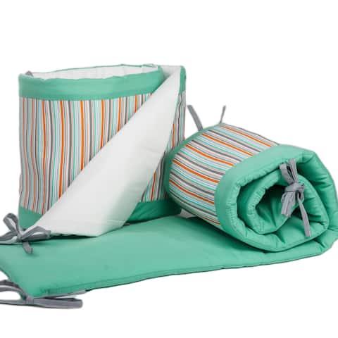 Pam Grace Creations 4-Piece Friendly Fox Crib Bumpers