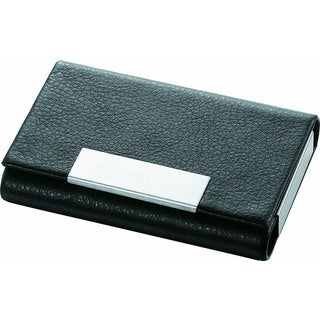 Visol Marlin Black Leather Business Card Case