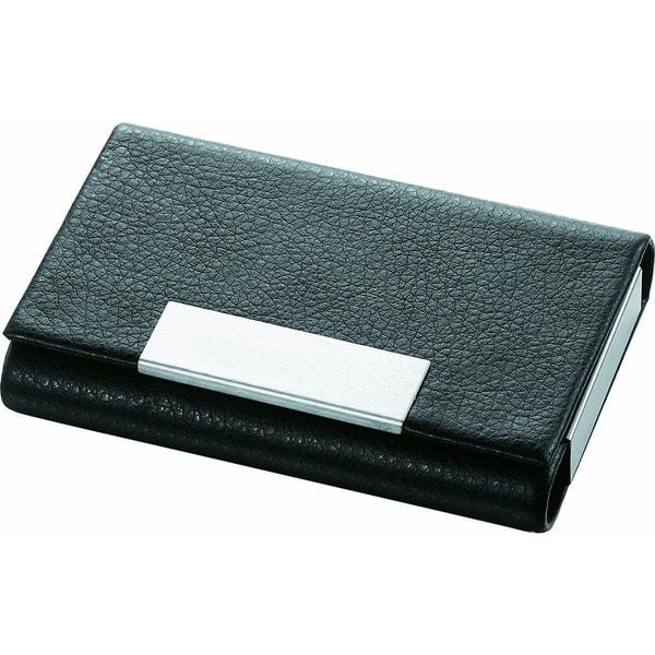 Visol Marlin Black Leather Business Card Case