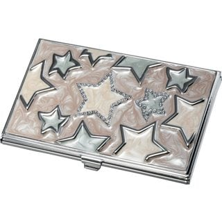 Visol Vidya Stars Lacqured Business Card Case For Women