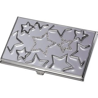 Visol Gabriela Lavander Stars With Purple Crystals on Business Card Case