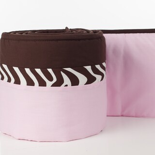Pam Grace Creations 4-Piece Zara Zebra Crib Bumpers