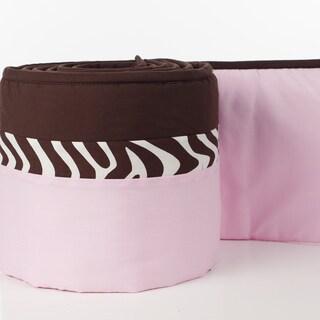 Pam Grace Creations 4-Piece Zara Zebra Crib Bumpers