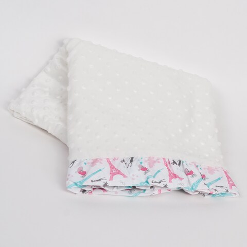 Pam Grace Creations Posh in Paris Chenille Baby Blanket
