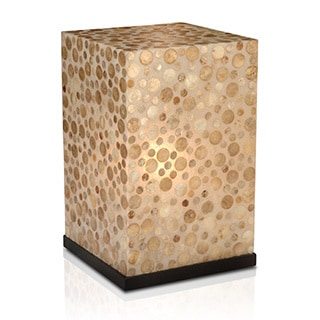 Decorative Dalhart Off-white Geometric Transitional Table Lamp