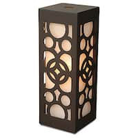 East At Main's Decorative Amsterdam Brown Geometric Transitional Table Lamp